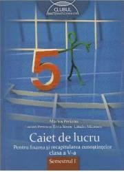 Matematica cls a V-a sem I. Caiet de lucru - Marius Perianu