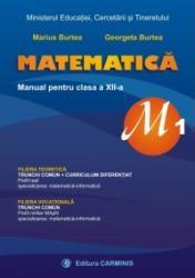 Matematica M1 manual pentru clasa a XII-a - Marius Burtea George