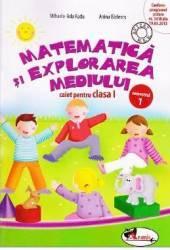 Matematica si explorarea mediului caiet clasa 1 semestrul 1 - Mihaela-Ada Radu Anina Badescu
