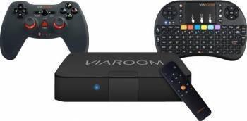 Media Center Viaroom Fusion TV Family + Keypad Easy + Gamepad Fast TV Box