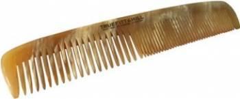 Pieptene Medium Double Tooth Horn Comb by Truefittamp Hill Barbati Perii de par