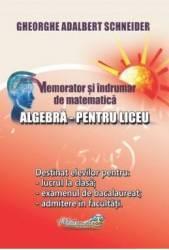 Memorator algebra pentru liceu - Gheorghe Adalbert Schneider Carti