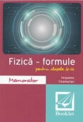Memorator de fizica. Formule. Clasa VI-XII - Hripsime Ceaumurian title=Memorator de fizica. Formule. Clasa VI-XII - Hripsime Ceaumurian