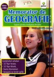 Memorator de geografie clasa 8 - Elena-Simona Albastroiu