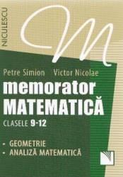 Memorator Matematica Cls 9-12 Geometrie Analiza -