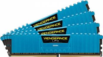 Memorie Corsair Vengeance LPX 32GB Kit 4x8GB DDR4 2400MHz CL14 Blue Memorii
