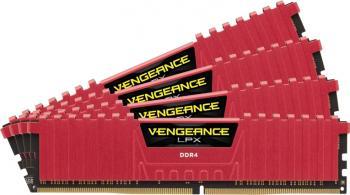Memorie Corsair Vengeance LPX 32GB Kit 4x8GB DDR4 2400MHz CL14 Red