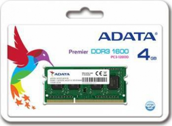 Memorie Laptop ADATA 4GB DDR3 1600MHz CL11 Memorii Laptop