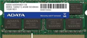Memorie Laptop ADATA 4GB DDR3L 1600MHz CL11 Bulk Memorii Laptop