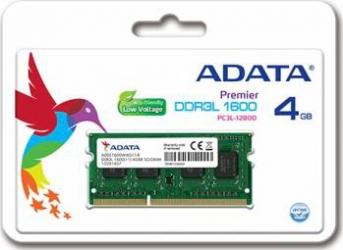 Memorie Laptop ADATA 4GB DDR3L 1600MHz CL11 Memorii Laptop