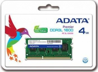 Memorie Laptop ADATA Premier 4GB DDR3 1600MHz CL11 LV Memorii Laptop