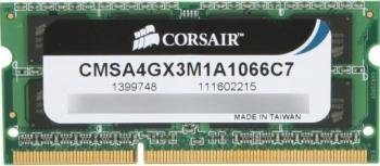 Memorie Laptop Corsair 4GB DDR3 1066MHz 7-7-7-20