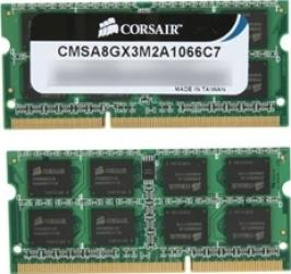 Memorie Laptop Corsair Kit 2x4GB DDR3 1066MHz 7-7-7-20