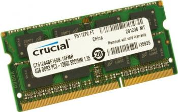 Memorie Laptop Micron Crucial 4GB DDR3 1600MHz CL11 Memorii Laptop