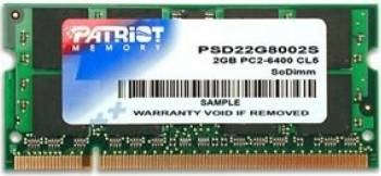 Memorie Laptop Patriot 2 GB 800 MHz DDR2 Non-ECC SODIMM