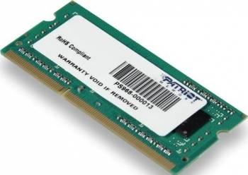 Memorie Laptop Patriot 4GB DDR3 1333MHz CL9 memorii laptop