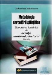 Metodologia cercetarii stiintifice ed. 2 - Mihaela St. Radulescu