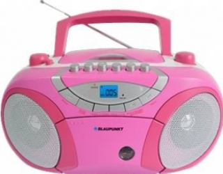 Microsistem audio Blaupunkt Boombox BB15PK CD Player tuner FM USB 2x2W pink Sisteme Audio