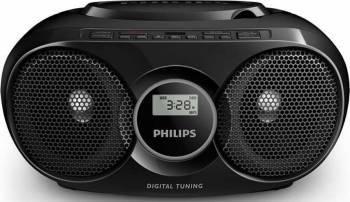 Microsistem audio Philips AZ318B12 CD Player Tuner FM USB AUX 3W Negru Sisteme Audio