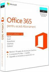 pret preturi Microsoft Office 365 Home Premium Romana 5 PC 1 An pentru PC/Mac Telefon si Tableta