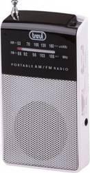 Mini Radio Portabil TREVI RA 725 B Alb Ceasuri si Radio cu ceas