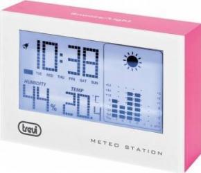 Mini Statie Meteo cu ceas Trevi ME 3103 Fuchsia Termometre si Statii meteo