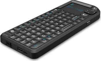 Mini tastatura bluetooth cu touch pad si laser iluminata Rii RTMWK02 Accesorii diverse pentru TV-uri