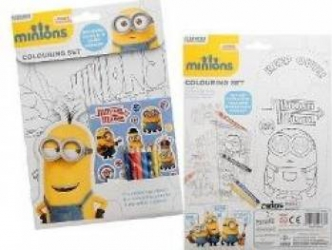 Minions Colouring set. Set de colorat