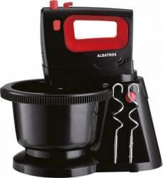 Mixer cu bol rotativ Albatros MXA300B 300W 5 viteze Functie Turbo Negru Mixere