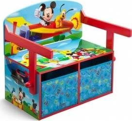 Mobilier 2 in 1 pentru depozitare jucarii Disney Mickey Mouse Mobila si Depozitare jucarii