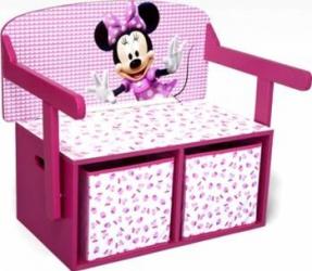Mobilier 2 in 1 pentru depozitare jucarii Disney Minnie Mouse Mobila si Depozitare jucarii