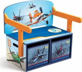 Mobilier 2 in 1 pentru depozitare jucarii Disney Planes Mobila si Depozitare jucarii