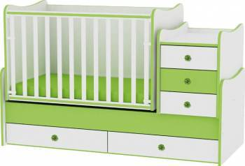 Mobilier multifunctional Lorelli Maxi Plus Verde Patut bebe,tarcuri si saltele