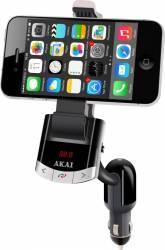 Modulator FM AKAI cu suport telefon Bluetooth Functie incarcare telefon Handsfree Telecomanda Player Auto
