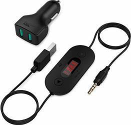 Modulator FM Aukey BT-F2 ecran LCD Functie CarKit Microfon Incorporat Negru Car Kit-uri