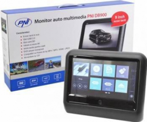 Monitor auto multimedia PNI DB900 negru cu ecran tactil de 9 inch DVD player