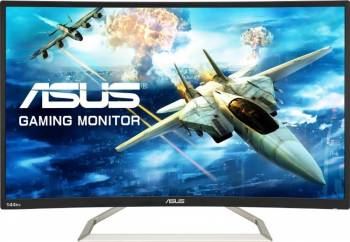 Monitor Gaming Curbat LED 31.5 Asus VA326H Full HD 144Hz 4 ms Monitoare LCD LED