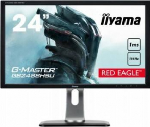 Monitor Gaming LED 24 Iiyama GB2488HSU-B3 Full HD 144Hz 1ms Monitoare LCD LED