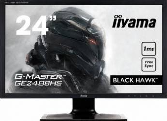 Monitor Gaming LED 24 LED Iiyama G-Master Black Hawk GE2488HS Full HD 1ms FreeSync Monitoare LCD LED