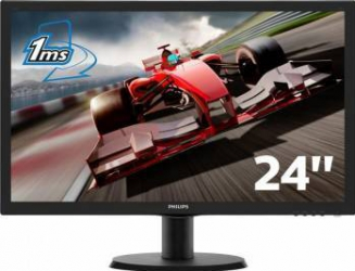 Monitor LCD 23.6 Philips 243V5LHSB5/00 1ms Full HD HDMI Monitoare LCD LED