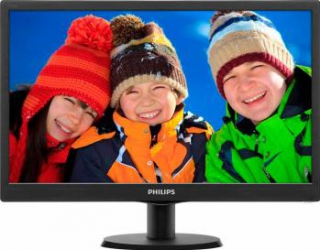 Monitor LED 18.5 Philips 193V5LSB210 WXGA 5ms Black Monitoare LCD LED