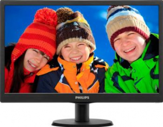 Monitor LED 19.5 Philips 203V5LSB2610 HD+ 5ms Black Monitoare LCD LED