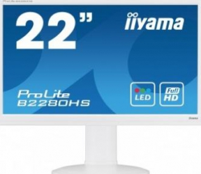Monitor LED 21.5 iiyama B2280HS-W1 White Full HD 5ms Monitoare LCD LED
