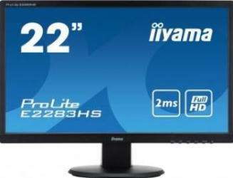 imagine Monitor LED 21.5 Iiyama E2283HS-B1 Full HD 2ms GTG Negru e2283hs-b1