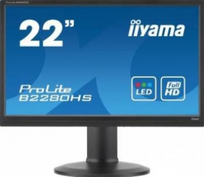 Monitor LED 21.5 Iiyama ProLite B2280HS-B1DP Full HD 2ms GTG Negru Monitoare LCD LED