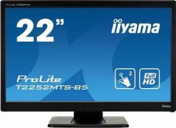 Monitor LED 21.5 Touchscreen Iiyama ProLite T2252MTS-b5 Full HD 2ms Monitoare LCD LED