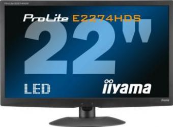 imagine Monitor LED 22 Iiyama ProLite E2274HDS-B1 Full HD HDMI prolite e2274hds