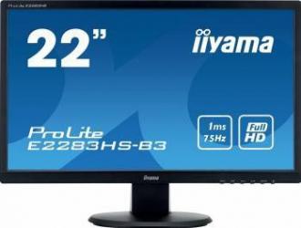 Monitor LED 22 Iiyama ProLite E2283HS-B3 Full HD 1ms Monitoare LCD LED