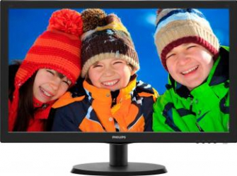 imagine Monitor LED 22 Philips 223V5LSB00 Full HD Negru. 223v5lsb/00_resigilat