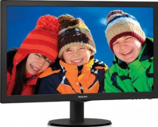 Monitor LED 21.5 Philips 223V5LSB2 Full HD Negru Lucios